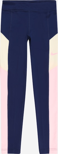 NIKE Sporthose 'TROPHY' in navy / pastellgelb / rosa, Produktansicht