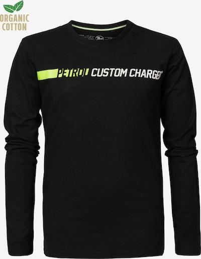 Petrol Industries Shirt in neongrün / schwarz / weiß, Produktansicht
