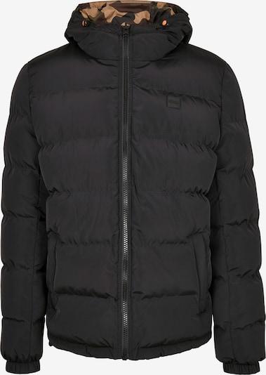 Urban Classics Winterjas in de kleur Beige / Olijfgroen / Zwart, Productweergave