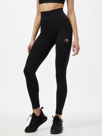ALPHA INDUSTRIES Leggings in schwarz, Modelansicht
