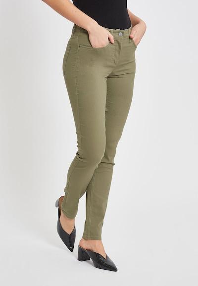 LauRie Jeans in de kleur Kaki, Modelweergave