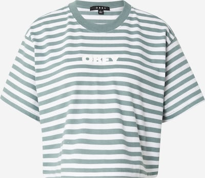 Obey T-shirt en vert / blanc, Vue avec produit