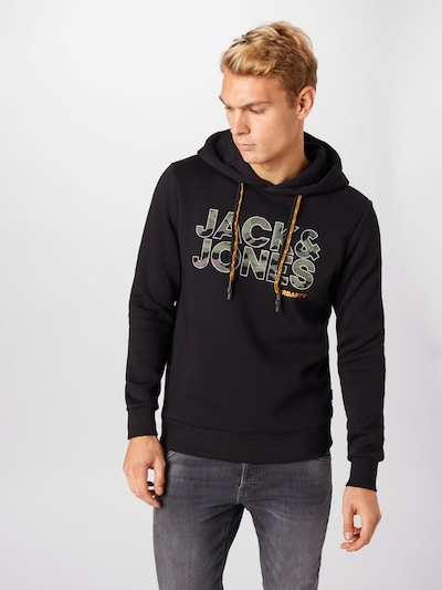 JACK & JONES Sweatshirt 'Rad' in goldgelb / taupe / puder / schwarz: Frontalansicht