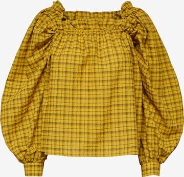 Chemisier 'Checkie' SELECTED FEMME en jaune