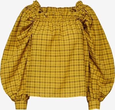 SELECTED FEMME Bluse 'CHECKIE' in braun / gelb, Produktansicht
