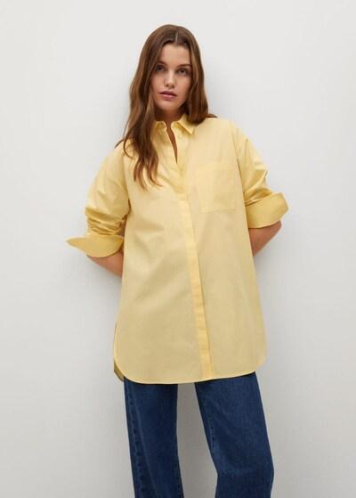 MANGO Bluse 'James' in limone, Modelansicht