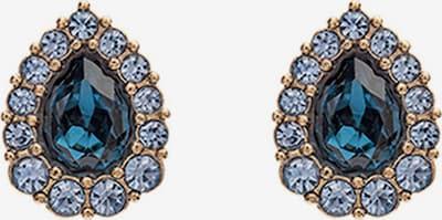 LILY AND ROSE Ohrringe 'Amelie' in hellblau / gold / petrol / schwarz, Produktansicht