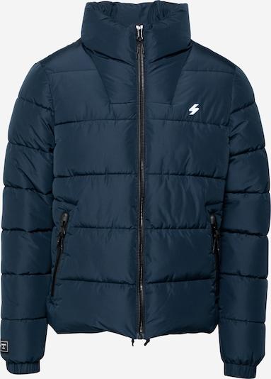 Superdry Winterjacke in dunkelblau / weiß, Produktansicht