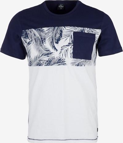 s.Oliver T-shirt in blau / weiß, Produktansicht