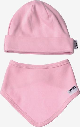LILIPUT Baby-Mütze und Halstuch im 2er-Set in schlichtem Design in rosa / altrosa, Produktansicht