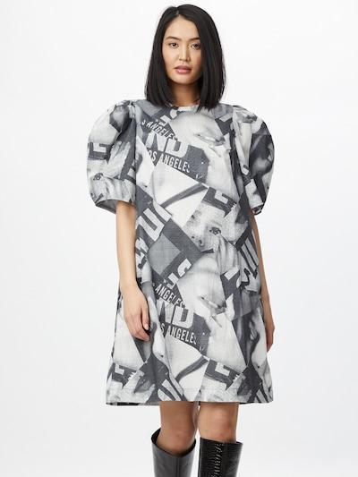 JNBY Kleid in grau / schwarz / weiß, Modelansicht