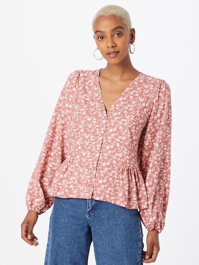Y.A.S Bluse 'MITURA' in pink / altrosa / weiß, Modelansicht