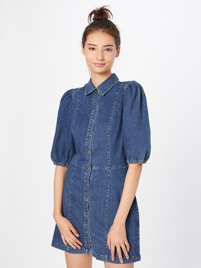 Mavi Shirt Dress in Blue denim, View model