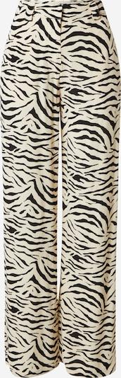 Pantaloni 'Ibu' modström pe crem / negru, Vizualizare produs