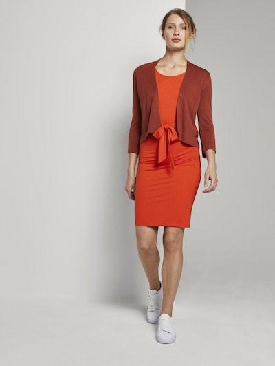 TOM TAILOR Jerseykleid mit Bindegürtel in orange, Modelansicht