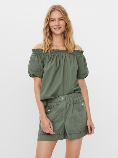 Vero Moda Petite Bluse 'Lanie' in smaragd, Modelansicht