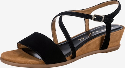 UNISA Sandale 'Bakiosin' in braun / schwarz, Produktansicht