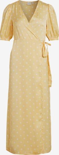 VILA Kleid 'Doletta' in hellgelb / weiß: Frontalansicht