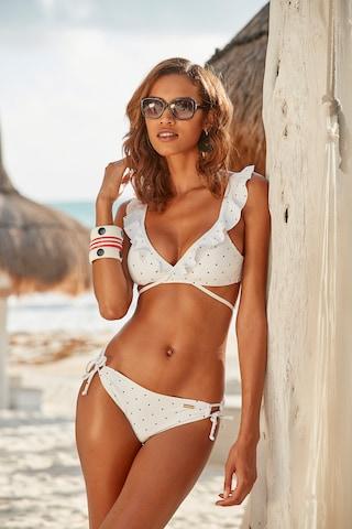 LASCANA Bikinitop 'Sparkle' in Weiß
