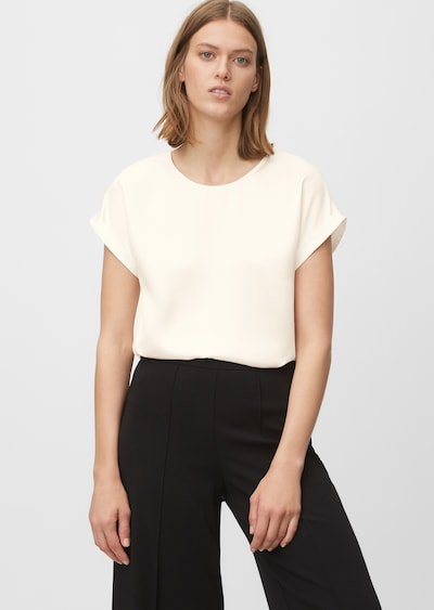 Marc O'Polo Pure Blouse in de kleur Wit, Modelweergave