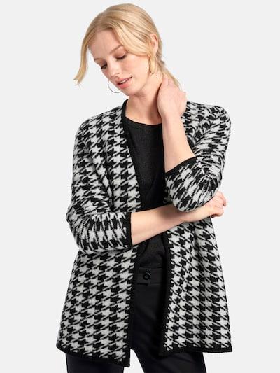 Basler Cardigan in schwarz / weiß, Modelansicht