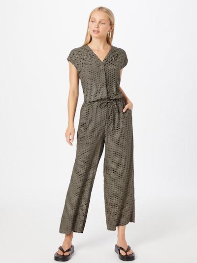 OPUS Jumpsuit in hellbeige / dunkelgrau / schwarz, Modelansicht