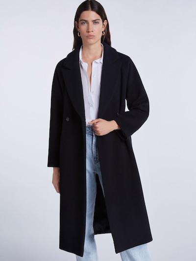 Rudeninis-žieminis paltas iš SET , spalva - juoda, Modelio vaizdas