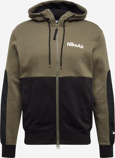 olíva / fekete / fehér Nike Sportswear Tréning dzseki 'Air', Termék nézet