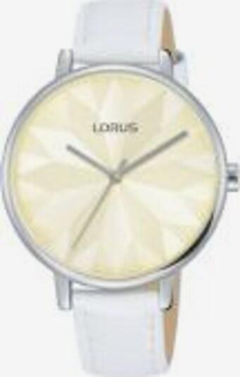 LORUS Analoguhr in creme / silber / weiß, Produktansicht