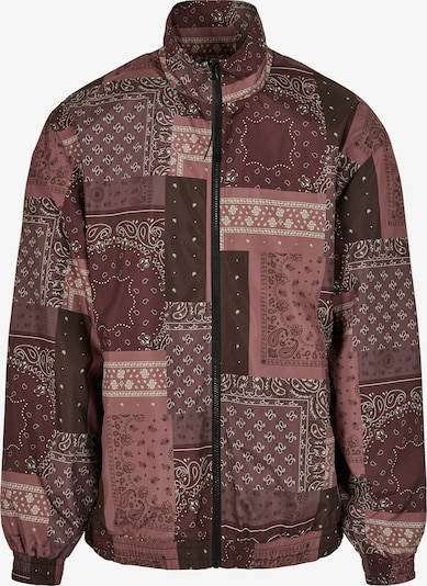 Urban Classics Between-Season Jacket in Dark brown / Berry / White, Item view