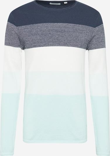 JACK & JONES Pullover 'JJLINCOLN' in blau / weiß, Produktansicht