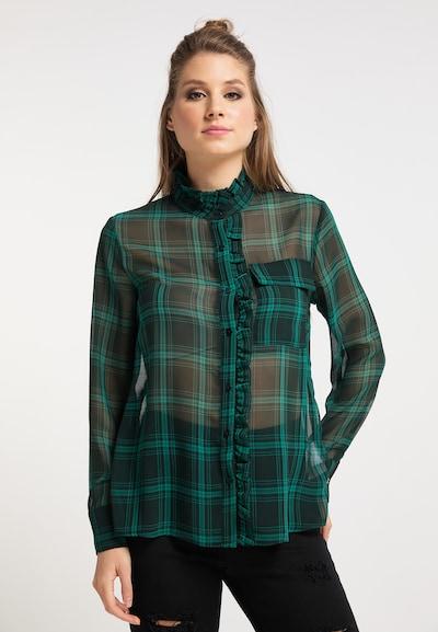 myMo ROCKS Bluse in mint / dunkelgrün, Modelansicht