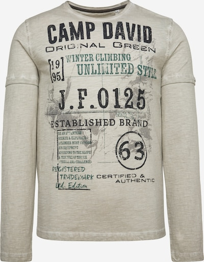 CAMP DAVID Langarmshirt Oil Dyed mit Artwork in grau, Produktansicht