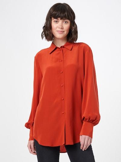 WOOD WOOD Bluse 'Magda' in orange, Modelansicht