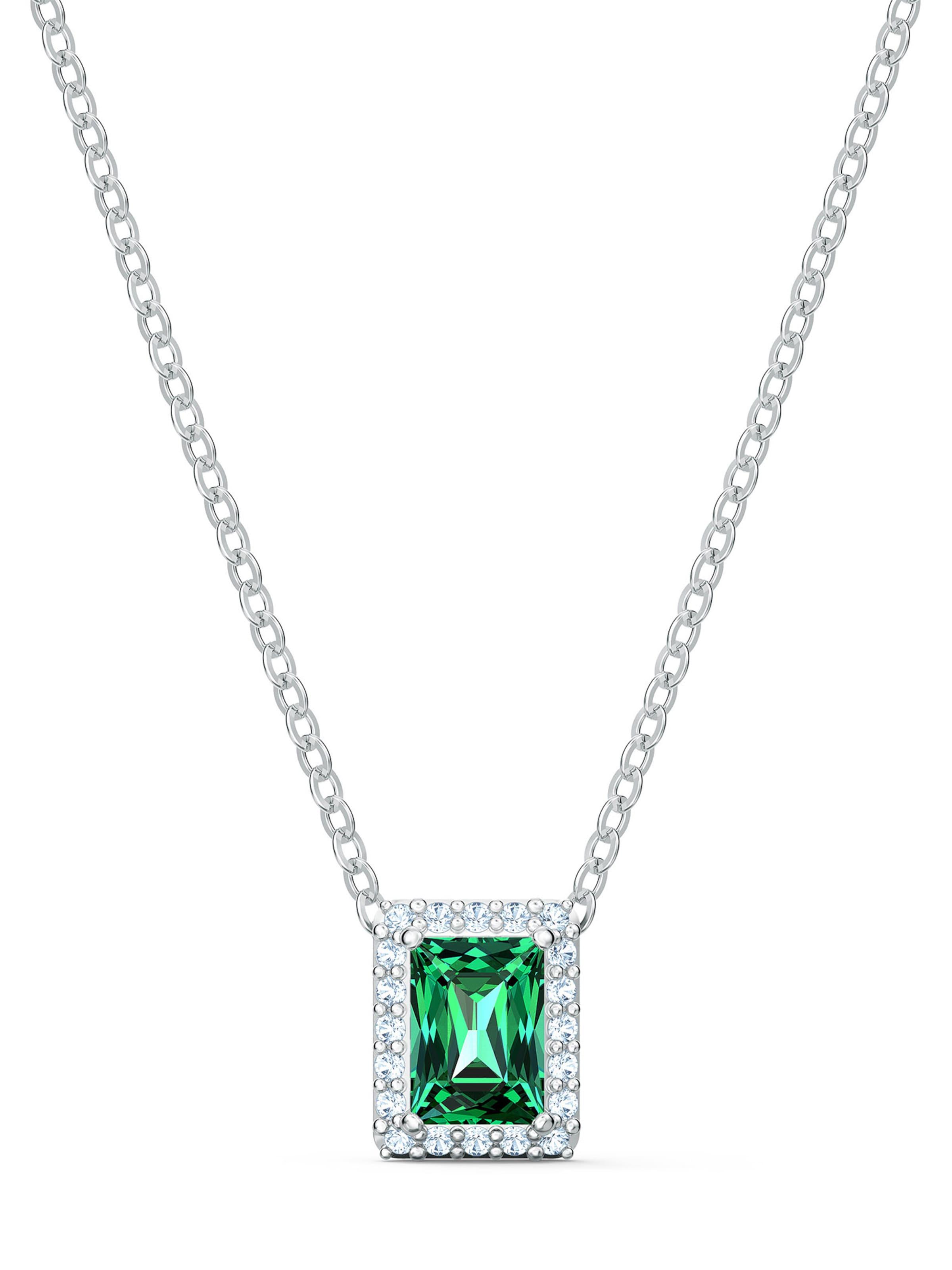 Swarovski Halsband i grön / silver
