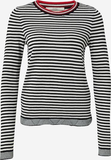 EDC BY ESPRIT Pullover in hellrot / schwarz / weiß, Produktansicht