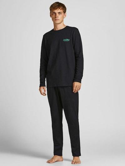 JACK & JONES Pyjama in türkis / schwarz, Modelansicht