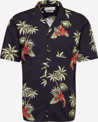 Camicia 'Elmer' By Garment Makers di colore oliva / arancione / nero / bianco, Visualizzazione prodotti