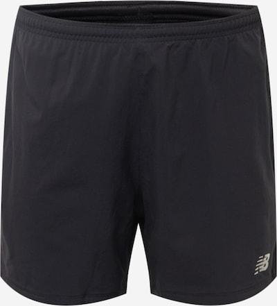 new balance Pantalon de sport 'Impact Run 5' en noir / blanc, Vue avec produit