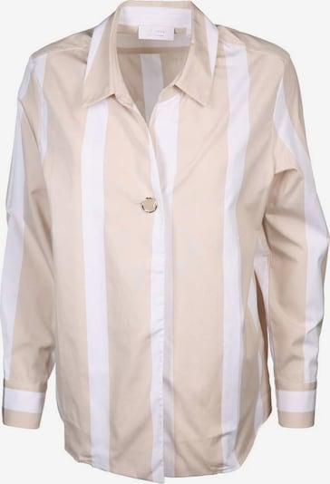 Rich & Royal Bluse in camel / weiß, Produktansicht