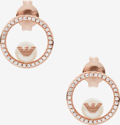 Emporio Armani Ohrringe in rosegold / perlweiß, Produktansicht