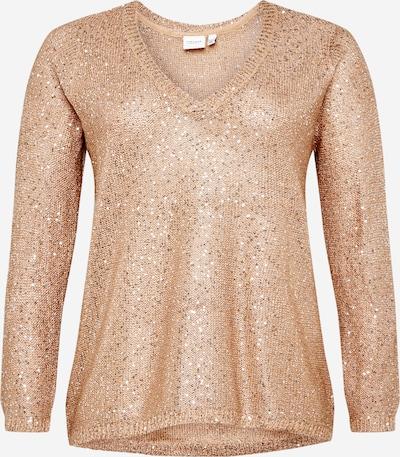 Junarose Пуловер 'Pilou' в светлокафяво / тъмносиво / сребърно, Преглед на продукта