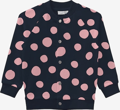 NAME IT Sweatjacke in dunkelblau / pink, Produktansicht