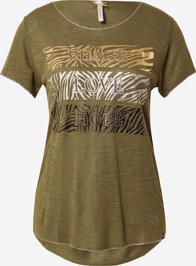 Key Largo Majica 'PHILOSOPHY' u zlatna / kaki / crna / srebro, Pregled proizvoda