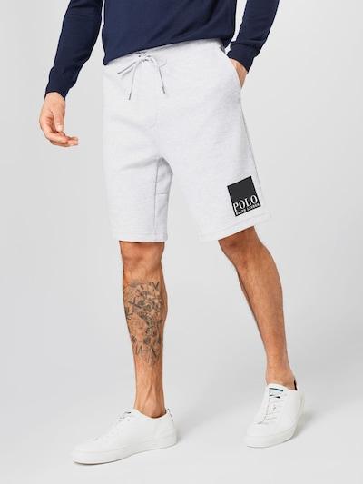 POLO RALPH LAUREN Shorts in hellgrau / schwarz / weiß, Modelansicht
