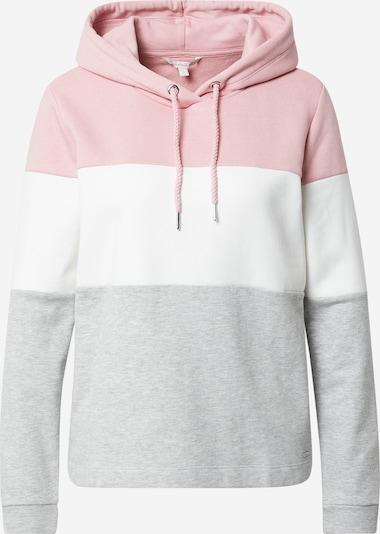 TOM TAILOR DENIM Sweater majica u siva / prljavo roza / bijela, Pregled proizvoda