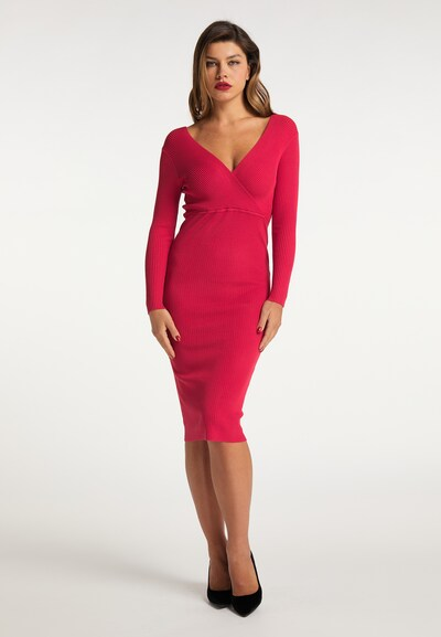 faina Strickkleid in pink, Modelansicht