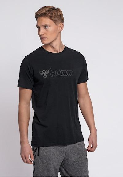 Hummel T-shirt in schwarz: Frontalansicht