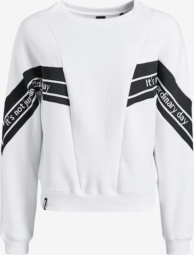 khujo Sweatshirt ' EMMA ' in de kleur Zwart / Wit, Productweergave