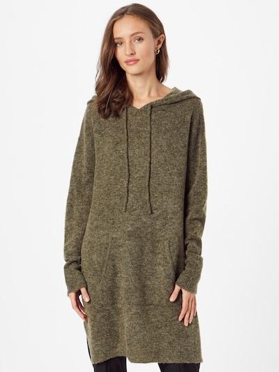 PULZ Jeans Šaty - olivová / tmavě zelená, Model/ka